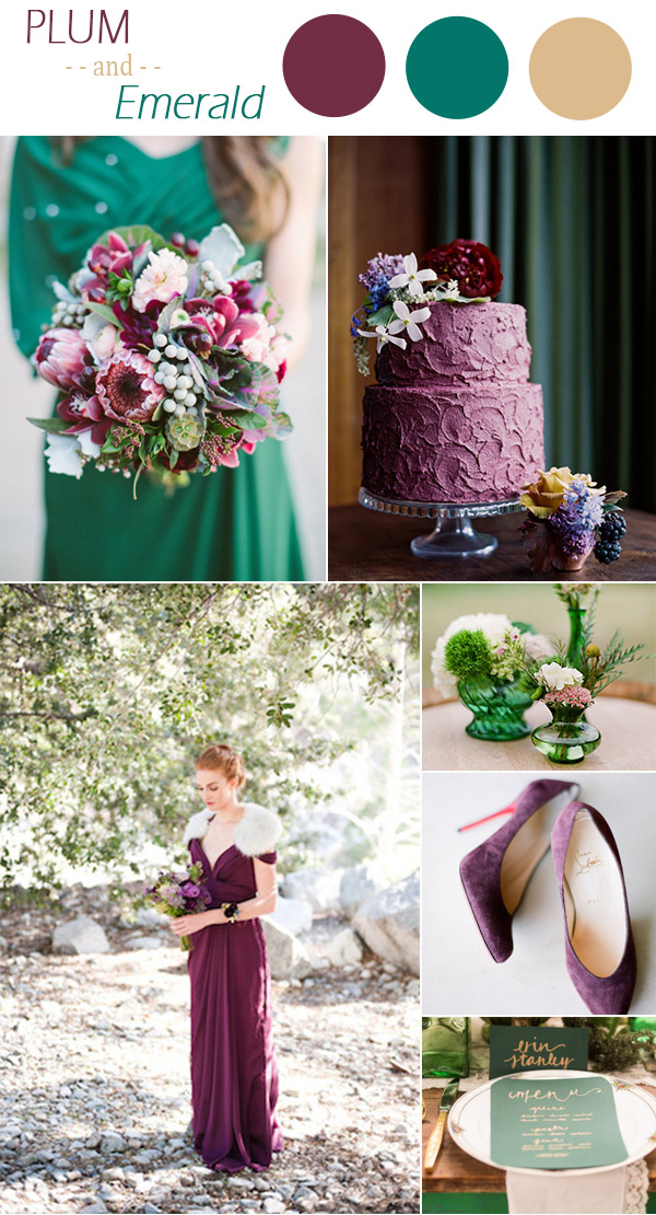 jewelry-tones-inspired-plum-and-emerald-wedding-color-ideas-for-winter-2016